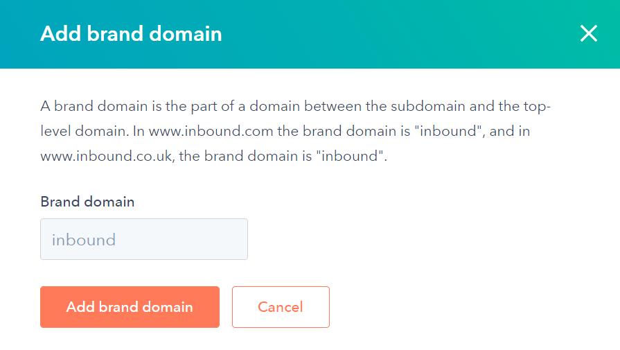 add brand domain