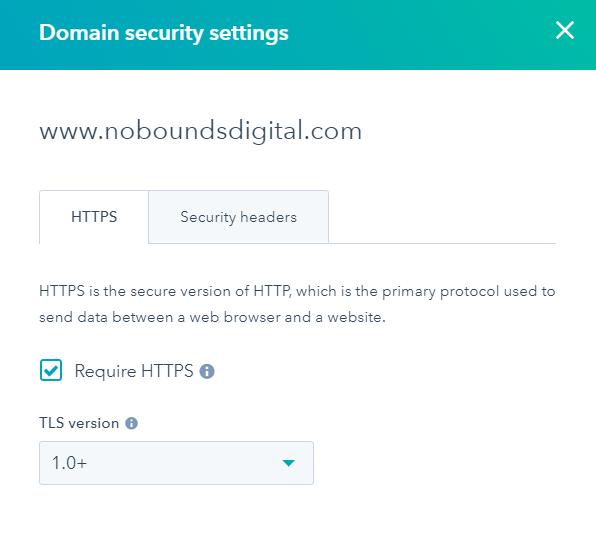 SSL HTTPS in HubSpot